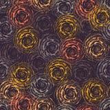 Abstrakcjonistycznych róż bezszwowy wektorowy tło purpury orane, menchia kwiaty Nowożytny kwiecisty wzór w jesieni barwi dla tkan royalty ilustracja