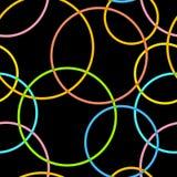 Abstrakcjonistycznych retro okregów bezszwowy wzór Fotografia Royalty Free