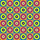 Abstrakcjonistycznych retro okregów bezszwowy wzór Zdjęcia Stock
