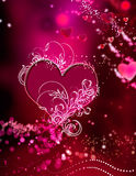 abstrakcjonistycznych serc różowa czerwień błyska oszałamiająco zawijas Obrazy Stock