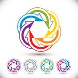 Abstrakcjonistycznych strzała wektorowy symbol, graficznego projekta ikona Obrazy Royalty Free