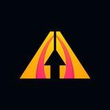Abstrakcjonistycznych strzała znaka loga elementów ikony kształtów szyldowy wektorowy projekt Zdjęcia Royalty Free