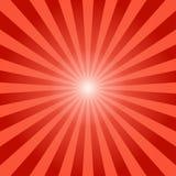 Abstrakcjonistycznych sunbeams promieni czerwony tło ilustracja wektor