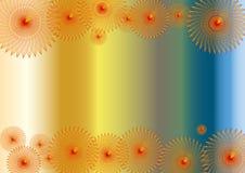 abstrakcjonistycznych tła kolorowych kwiatów ramowa czerwień ilustracja wektor