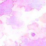 Abstrakcjonistycznych tło tekstury papieru akwareli menchii purpurowy pastelowy ładny Obraz Stock