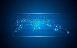 Abstrakcjonistycznych tło telecoms technologii innowaci komunikacyjny globalny pojęcie Obrazy Royalty Free