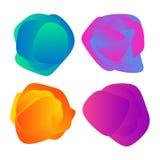 abstrakcjonistycznych tło kolorowy set Zdjęcie Royalty Free