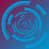 Abstrakcjonistycznych technologii okregów wektorowy tło Technologiczny okrąg z jaskrawym przejrzystym pierścionkiem EPS10 Wektoro royalty ilustracja