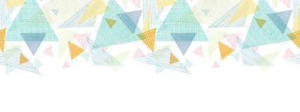 Abstrakcjonistycznych tkanina trójboków horyzontalny bezszwowy ilustracji