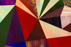 Abstrakcjonistycznych trójboków geometryczny stubarwny wzór, mozaika Obrazy Royalty Free