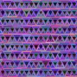 Abstrakcjonistycznych trójboka wzoru menchii cyan lily błękit Fotografia Stock