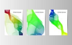 Abstrakcjonistycznych wektorowych nowożytnych broszurki sprawozdania rocznego projekta szablonów szablonu przyszłościowy Plakatow Obraz Stock
