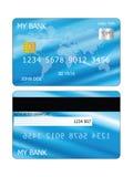 abstrakcyjna błękitnej karty zdjęcie kredytu Zdjęcie Stock
