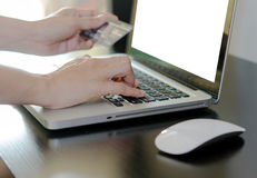 abstrakcyjna błękitnej karty zdjęcie kredytu Fotografia Stock