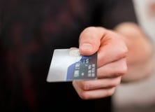 abstrakcyjna błękitnej karty zdjęcie kredytu Obrazy Stock