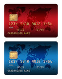 abstrakcyjna błękitnej karty zdjęcie kredytu Obraz Stock
