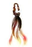 abstrakcyjna portret kobiety fałszywy mody tła komputerowy ekranu Obraz Stock