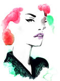 abstrakcyjna portret kobiety fałszywy mody tła komputerowy ekranu Zdjęcia Stock