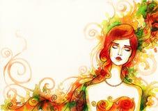 abstrakcyjna portret kobiety fałszywy mody tła komputerowy ekranu Obrazy Stock