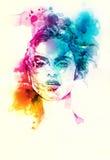 abstrakcyjna portret kobiety fałszywy mody tła komputerowy ekranu Zdjęcie Royalty Free