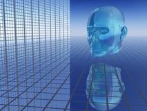 abstrakcyjna przyszłości gospodarczej głowy Obraz Stock