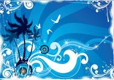 abstrakcyjna tropikalna wyspa Ilustracji