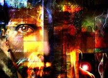 abstrakcyjna twarz Obraz Stock