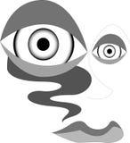 abstrakcyjna twarz ilustracja wektor