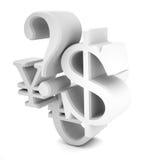 abstrakcyjna waluty Obrazy Stock