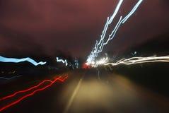 abstrakcyjny światła ruchu Zdjęcia Royalty Free