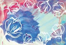 abstrakcyjny akrylowy tło Zdjęcie Stock