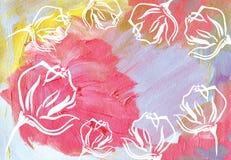 abstrakcyjny akrylowy tło Zdjęcia Royalty Free