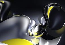 abstrakcyjny czarnym kosmosie żółty Obraz Stock