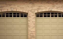 abstrakcyjny drzwi garażu domu nowoczesnego Obraz Royalty Free
