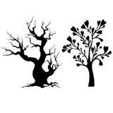 abstrakcyjny ekologii serii drzewa wektora Fotografia Stock