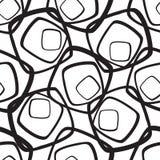 abstrakcyjny geometryczny wzór bezszwowi tło słoneczniki abstrakcjonistycznego czarny projekta ilustracyjny tekstury biel royalty ilustracja