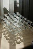 abstrakcyjny kieliszki wina Zdjęcie Royalty Free