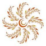 abstrakcyjny kwiecisty wzór royalty ilustracja