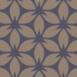 abstrakcyjny kwiecisty wzór Beż i zmrok - błękitny wektorowy tło Geometryczny liścia ornament ilustracja wektor
