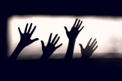 abstrakcyjny tło Czerń cienie ręki Na ścianie obraz royalty free