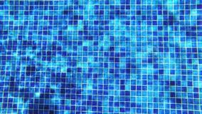 abstrakcyjny tło Podwodny krótkopęd błękit płytka w pływackim basenie z błyszczącym światła słonecznego odbiciem zbiory