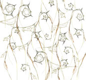abstrakcyjny tło pomarańczowy fractal kwiat Zdjęcia Stock