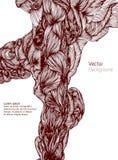 abstrakcyjny tło Wektorowa ręka rysujący fala tło wektor ilustracja wektor