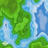 abstrakcyjny tło krajobrazu mozaika 3d ilustracja wektor Obrazy Stock