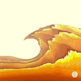 abstrakcyjny tło krajobrazu mozaiki ilustracja Obrazy Stock