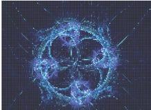 abstrakcyjny tło Wektorowa klamerki sztuka Obraz Stock
