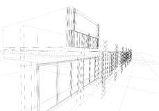 abstrakcyjny wireframe Obraz Stock