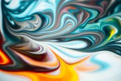 Abstraktów kolory mieszający wpólnie fotografia royalty free