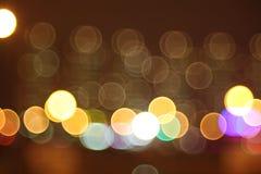 Abstraktów światła, błysk, noc Obrazy Stock