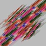 Abstraktów barwioni ołówki Obrazy Royalty Free